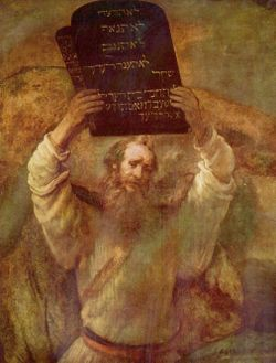 Rembrandt Moses & 10 Commandments